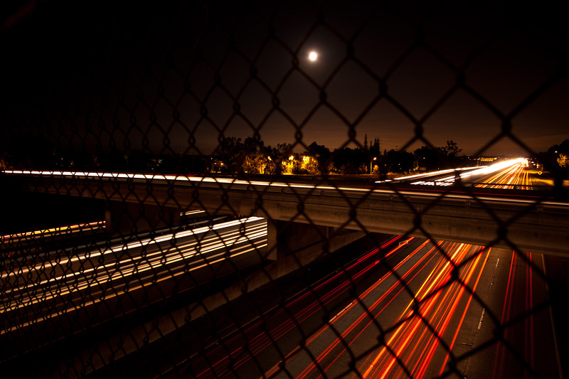 Night Scene from a Footbridge